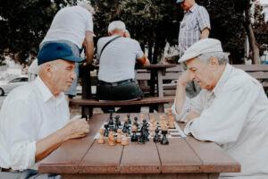 Respite care for elderly- elders playing chess